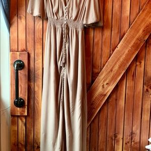 Forever 21 Button Down Maxi Dress with Side Slits